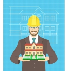 Young attractive construction manager vector image vector image