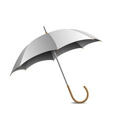 Grey umbrella isolated on white vector