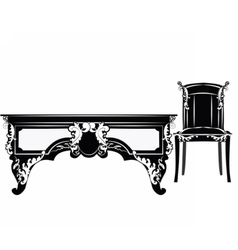 Classic royal chair vector