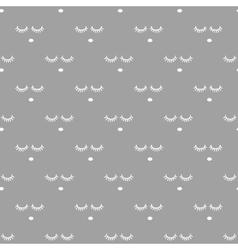 Sleepy face gray seamless pattern vector