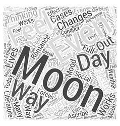 Moon fever word cloud concept vector