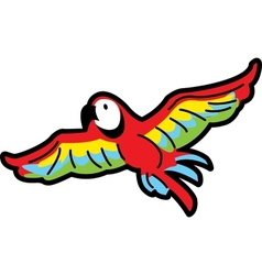 Flying parrot vector