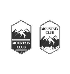 Two vintage mountain labels vector