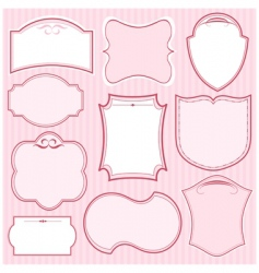 set of pink vector frames vector image