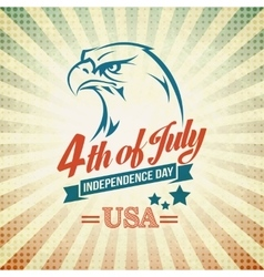 Independence day holiday card with typography and vector