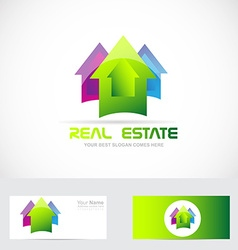 Real estate colored house vector