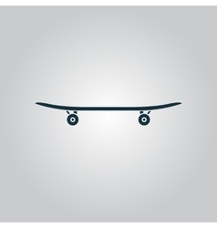 Icon of skateboard vector