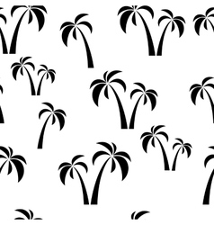 Seamless black palms vector