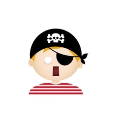 Pirate facial expression vector