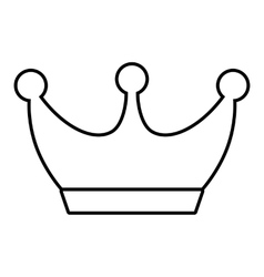 King line icon vector