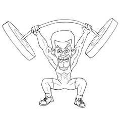 Weightlifter cartoon vector