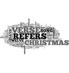 A christmas history lesson text word cloud concept vector