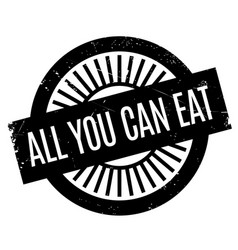 all you can eat rubber stamp vector image