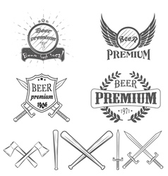 beer lager premium logos and Images vector image vector image