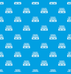 boxes goods pattern seamless blue vector image vector image