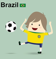 brazil national football team businessman happy is vector image