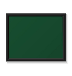 Chalkboard with black frame realistic template vector