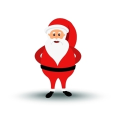 Christmas smiling Santa Claus character is vector image vector image