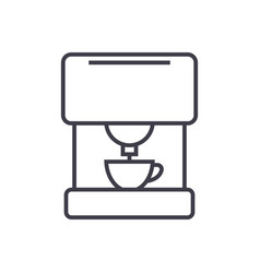 coffee machine line icon sign vector image vector image