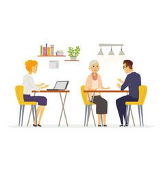 Coffee room - modern cartoon characters vector
