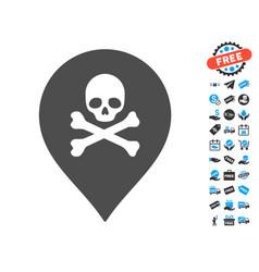 death marker icon with free bonus vector image