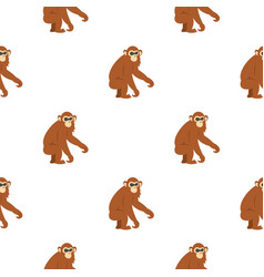 Dusky leaf monkey pattern seamless vector