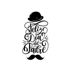 Feliz dia del padre spanish translation of happy vector