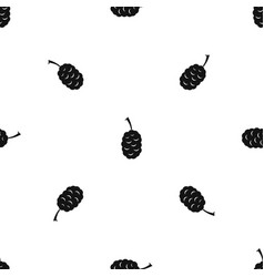 Fruit of mulberry pattern seamless black vector