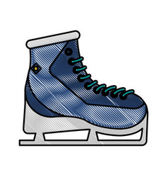 ice skates vector image vector image