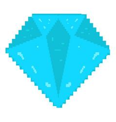 isolated pixelated diamond vector image