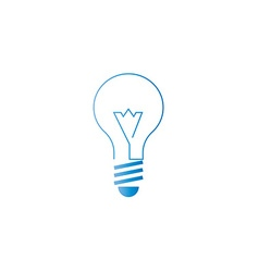 Lamp icon alternative energy innovation idea logo vector