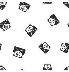 Mail envelope icon seamless pattern background vector