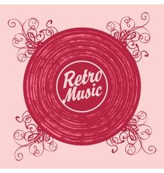 music retro vector image vector image
