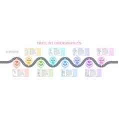 navigation map infographics 8 steps timeline vector image vector image