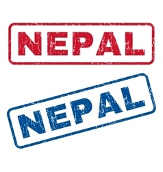 Nepal rubber stamps vector