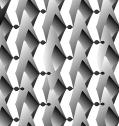 Op Art Hexagon in white and grey colors vector image vector image