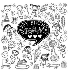 Poster for the birthday greetings vector