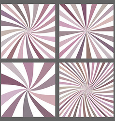 Retro spiral and ray burst background set vector