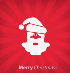Santa claus christmas icon vector