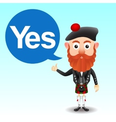 Scottish character in kilt vector image vector image