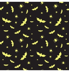 Seamless pattern with bats and spiders for vector