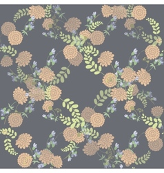 Seamless vintage pink flower pattern vector