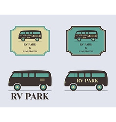Set of vintage outdoor camp badges and logo vector