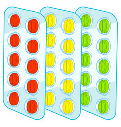 tablets blister packs vector image