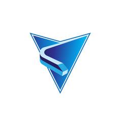 train location abstract arrow icon vector image vector image