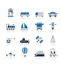 transportation and shipment icons vector image