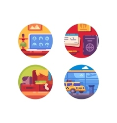 Travel concept icon set vector