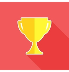 Trophy flat icon vector