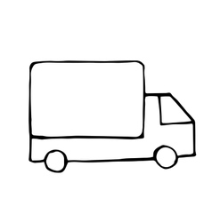 truck doodle drawing isolared vector image vector image