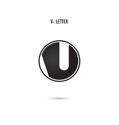V-letter abstract logo design vector
